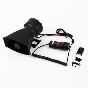 Hoorn met 5 type sirene en megafoon functie