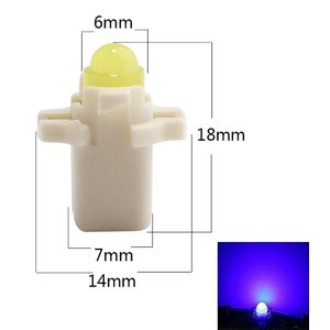 B8.3D COB Full Glow LED Blauw