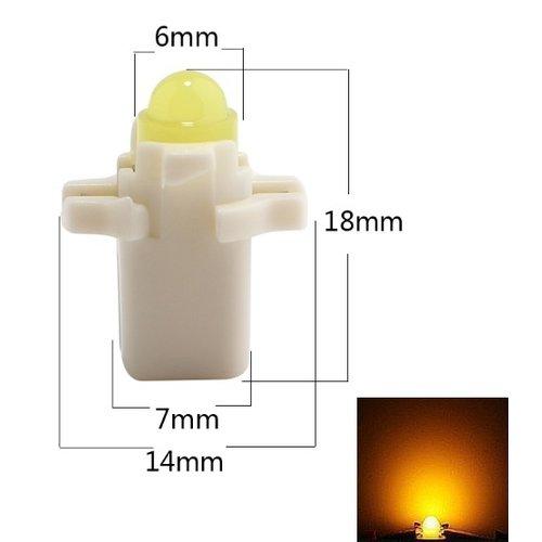 B8.3D COB Full Glow LED Geel/amber