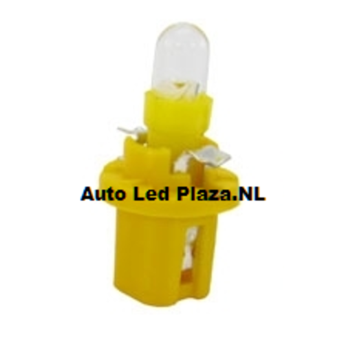 B8.5D 1x LED Rond geel