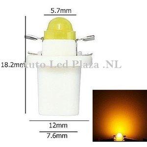 B8.5D COB Full Glow LED Geel/Amber