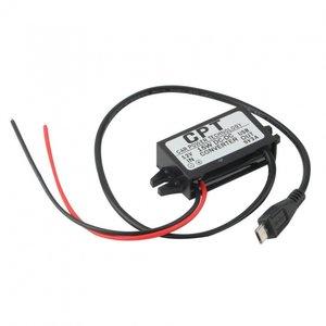 12V omvormer unit naar 5V met micro USB uitgang