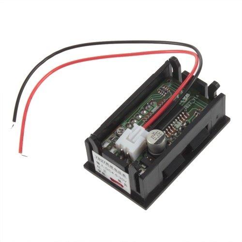 Mini digitale voltmeter 4.5-30V Voltage Panel Meter in Rode LED uitvoering