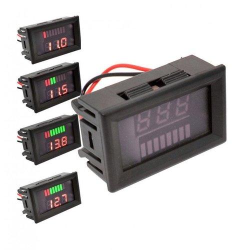 Voltmeter 4,5V tm 24V met indicator