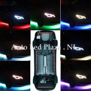 RGB SMD LED underbody kit 2 x 90 cm 2 x 120 cm incl. remote en muziek sensor