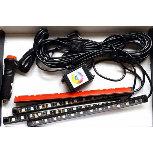 4x 30cm interieur RGB ledstrip met bluetooth controll