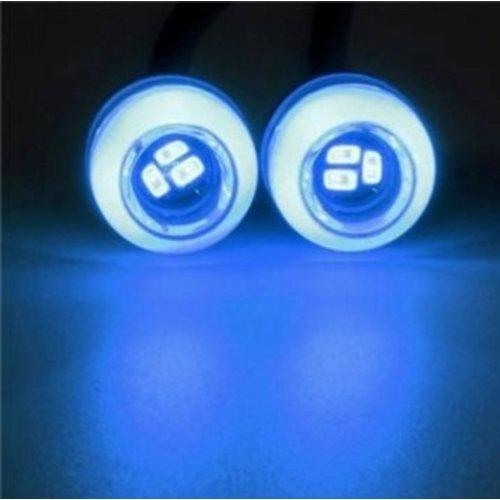 Eagle eye 5630SMD LED 16mm set a 2 stuks kleur: blauw