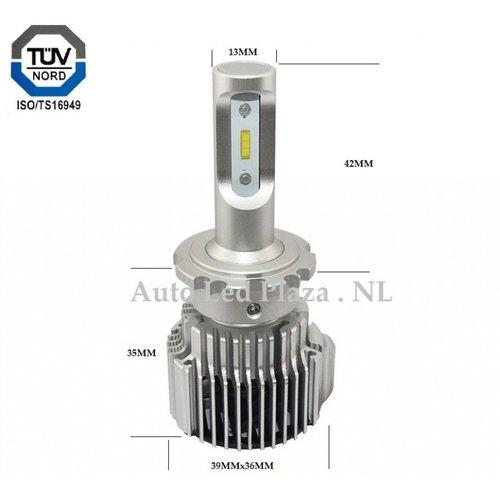 L-zes D2S, D2R LED 72W 8000LM dimlicht set