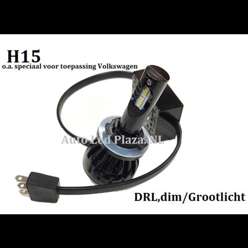 H15 DRL/Grootlicht LED verlichting