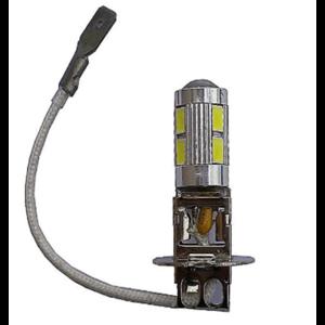 H3 10 5630 smd LED met lens 9-30V (Dagrijverlichting / breedstraler)