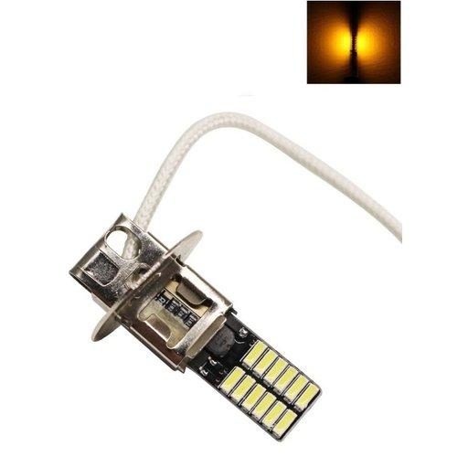 H3 24x 4014SMD LED oranje Amber