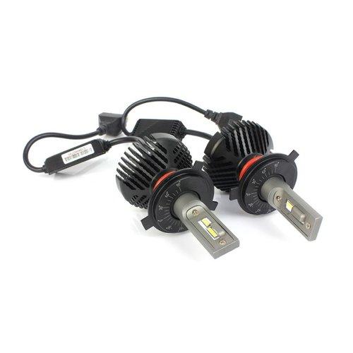 L-zes H4 6V 8000LM 6000K LED dimlicht set