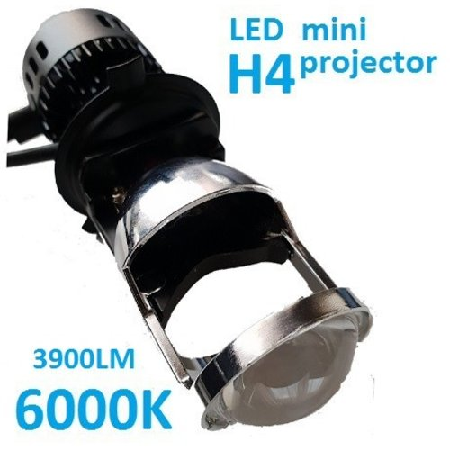 H4 LED 3900LM dimlicht mini projector set