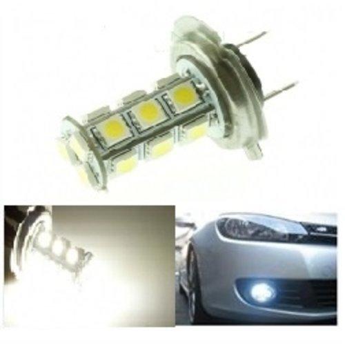 H7 18X 5050SMD LED Wit (Dagrijverlichting / breedstraler)