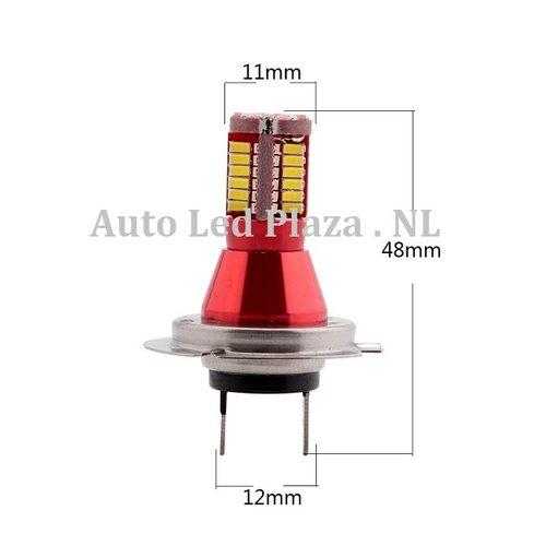 H7 57x 3014SMD LED ( dagrijverlichting/Breedstraler)