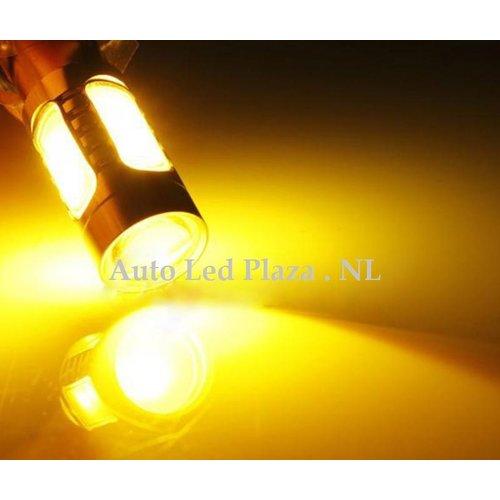 COB LED H7 High power 7.5W COB 3000k 500LM Geel/Amber (Dagrijverlichting / breedstraler)