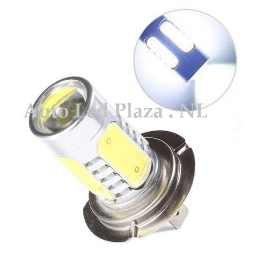 COB LED H7 High power 7.5W COB 6000k 600LM wit  (Dagrijverlichting / breedstraler)