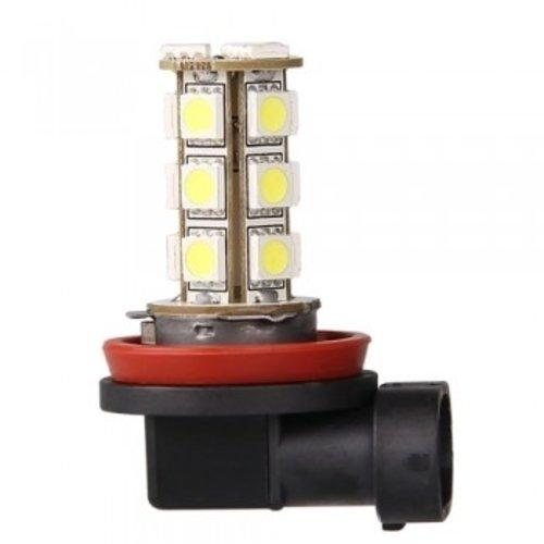 H8 18X 5050SMD LED Wit (Dagrijverlichting / breedstraler)