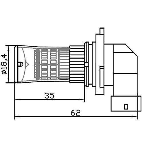 H8 3014SMD 48x LED