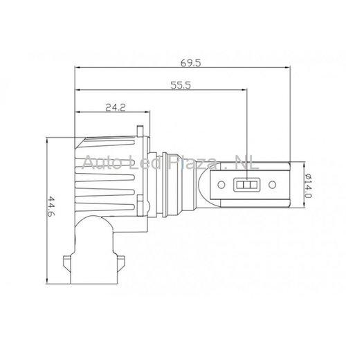 CSP LED LET OP! per 1 stuk aanbod: HB4 9006 Dimlicht 4000LM 6000K LED compact