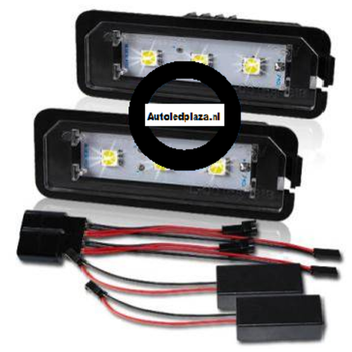 Kenteken LED unit set 3x 5450SMD highpower LED VW