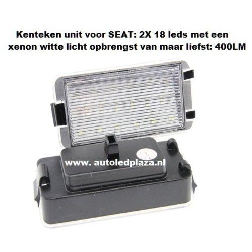 LED kenteken unit 18x 3528SMD geschikt voor SEAT