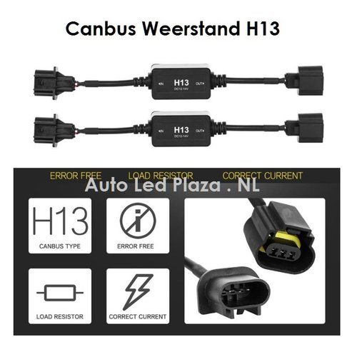 H13 canbus led verlichting weerstand plug and play 2st