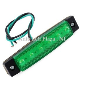 Groen zijmarkering 12V 6x LED unit