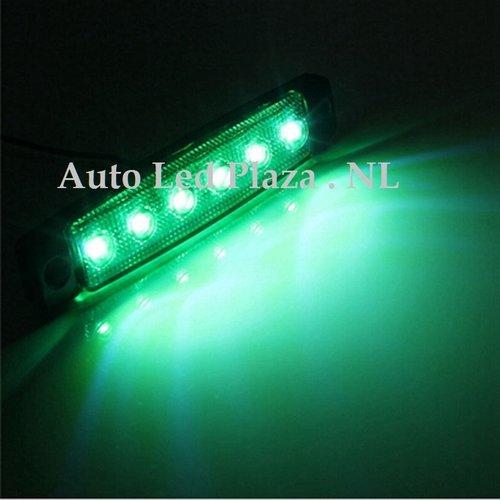 Groen zijmarkering 12V 6x LED unit