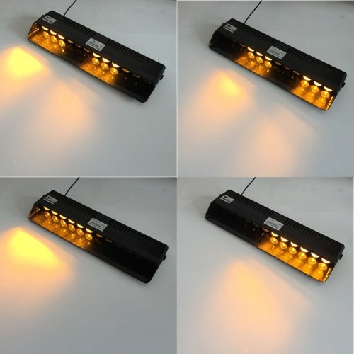 12 LED Oranje Waarschuwing?áStrobe High power LED flash knipperlicht?á