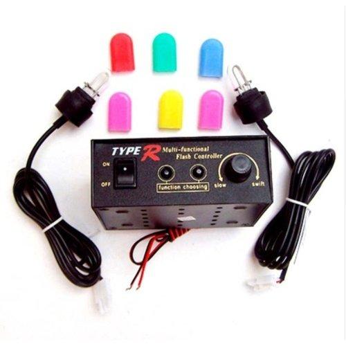 2x 12V HID stroboscoop lampen incl. 6x2 kleur kousjes