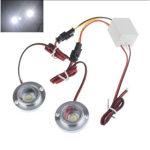 2x 3W LED flash strobe modules Wit