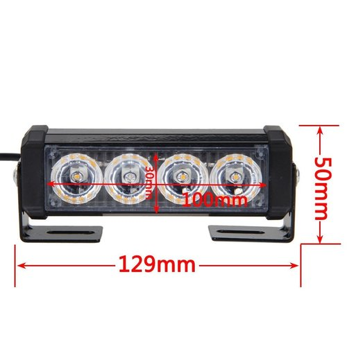 2x 6W highpower flash signalering LED module units oranje 12v incl remote