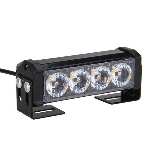 2x 6W highpower flash signalering LED module units oranje 12v incl remote