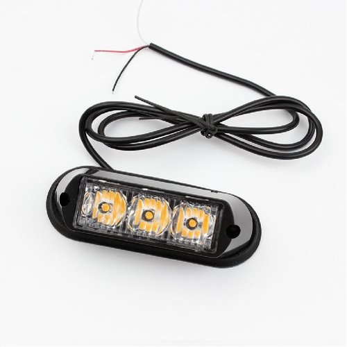 3x 3W highpower flash signalering module oranje 12v-24v opbouw model