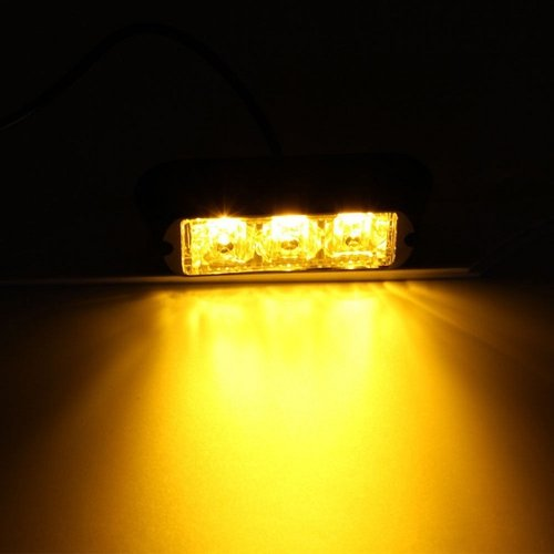 3x 3W highpower flash signalering module oranje 12v-24v opbouw model