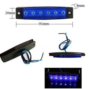 Blauw zijmarkering 12V 6x LED unit