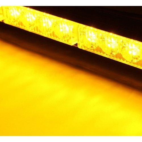 Dak signalering led balk tweezijdig Oranje incl. Versch. Lichtpatronen. 24x highpower leds. 24W