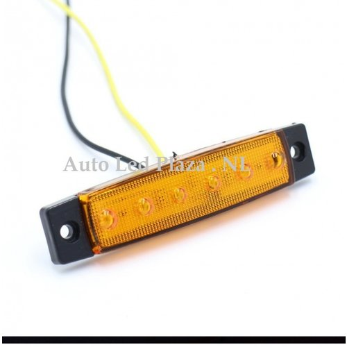 Oranje zijmarkering 12V 6x LED unit