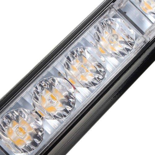 Waarschuwings strobe flash LED balk 48W 16x3w Highpower LED Oranje