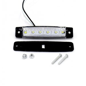 Wit zijmarkering 12V 6x LED unit