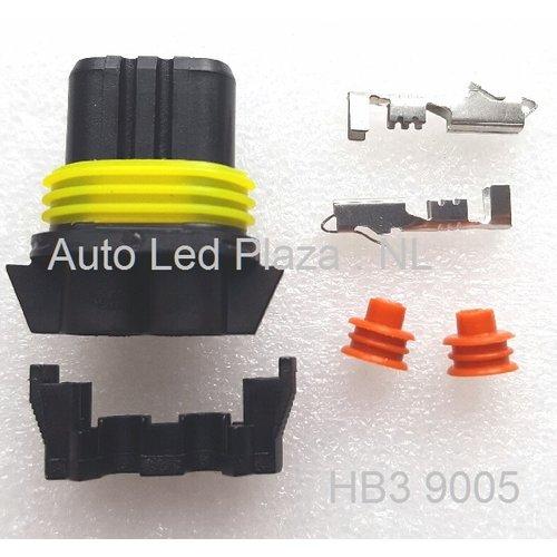 HB3 9005 2-pins AMP superseal verbindings stekker