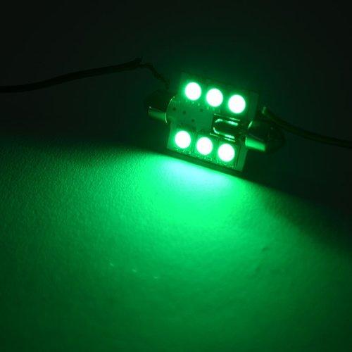 2x C5W Festoon 39MM 6 leds RGB 5050SMD LED incl, remote controll