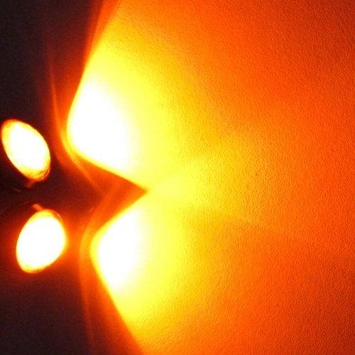 COB LED 2X Eagle eye 3W high power LED kleur: Geel/Amber