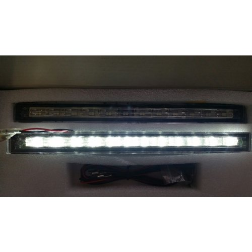 Dual color switchback DRL wit/geel