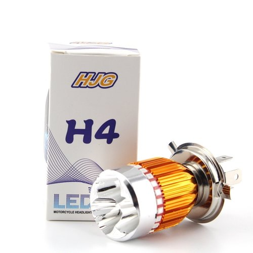 H4 Gold 9W Cree led incl blauw en rood flash functie