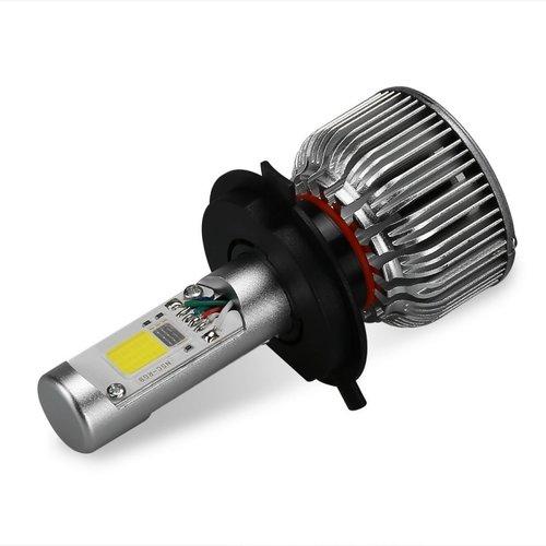 COB LED H7 LED dimlicht + RGB Demon eyes incl Bluetooth bediening