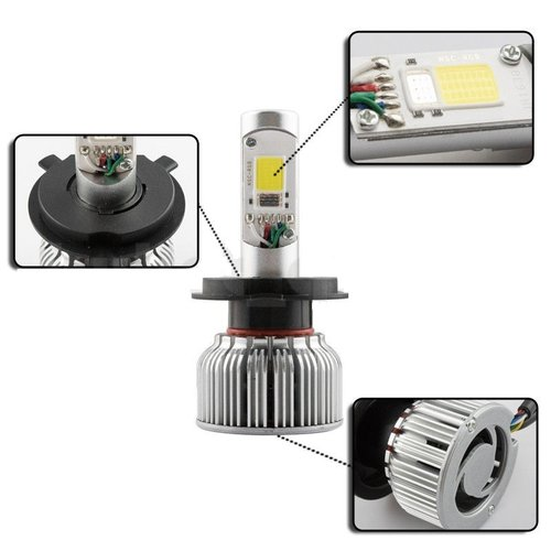 COB LED HB4 9006 LED dimlicht + RGB Demon eyes incl Bluetooth bediening
