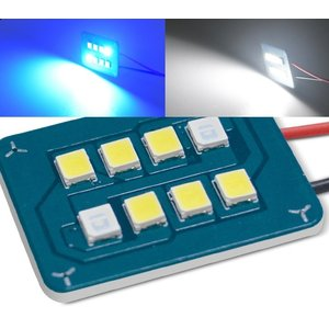 Led panel two tone (Blauw over naar wit) incl. adapters
