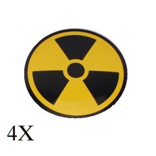 Radio actief logo naafdop embleem set